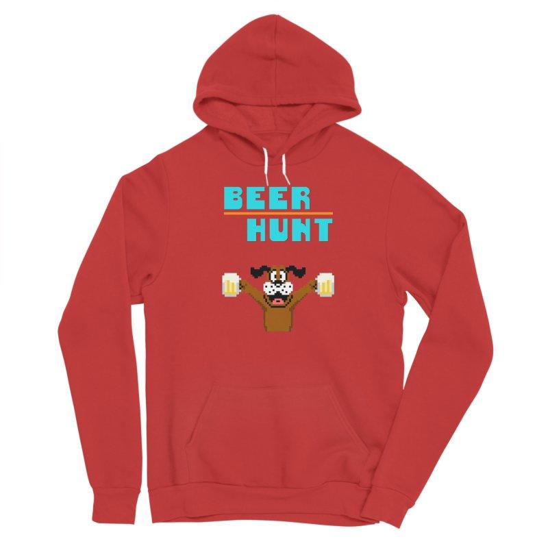 Beer Hunt Dog Men's Pullover Hoody by DrinkIN GeekOUT's Artist Shop