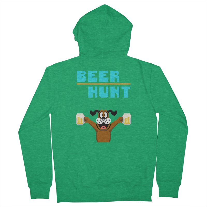 Beer Hunt Dog Men's Zip-Up Hoody by DrinkIN GeekOUT's Artist Shop