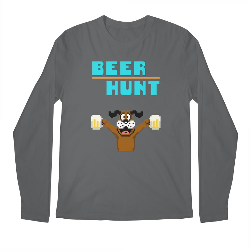 Beer Hunt Dog Men's Longsleeve T-Shirt by DrinkIN GeekOUT's Artist Shop