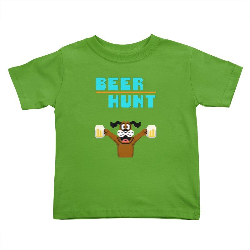 Beer Hunt Dog Kids Toddler T-Shirt by DrinkIN GeekOUT's Artist Shop