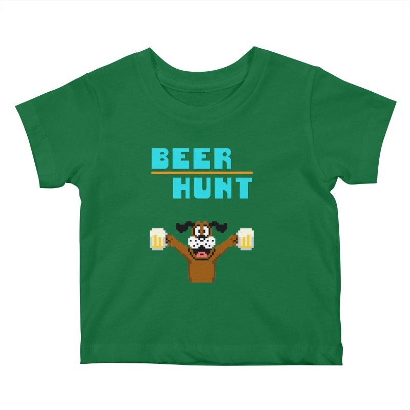 Beer Hunt Dog Kids Baby T-Shirt by DrinkIN GeekOUT's Artist Shop