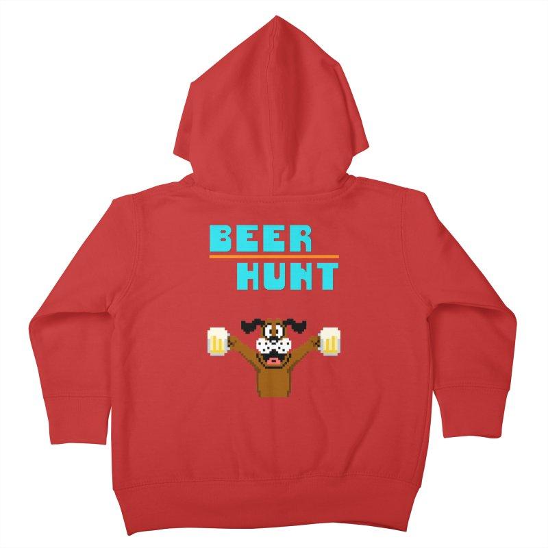 Beer Hunt Dog Kids Toddler Zip-Up Hoody by DrinkIN GeekOUT's Artist Shop