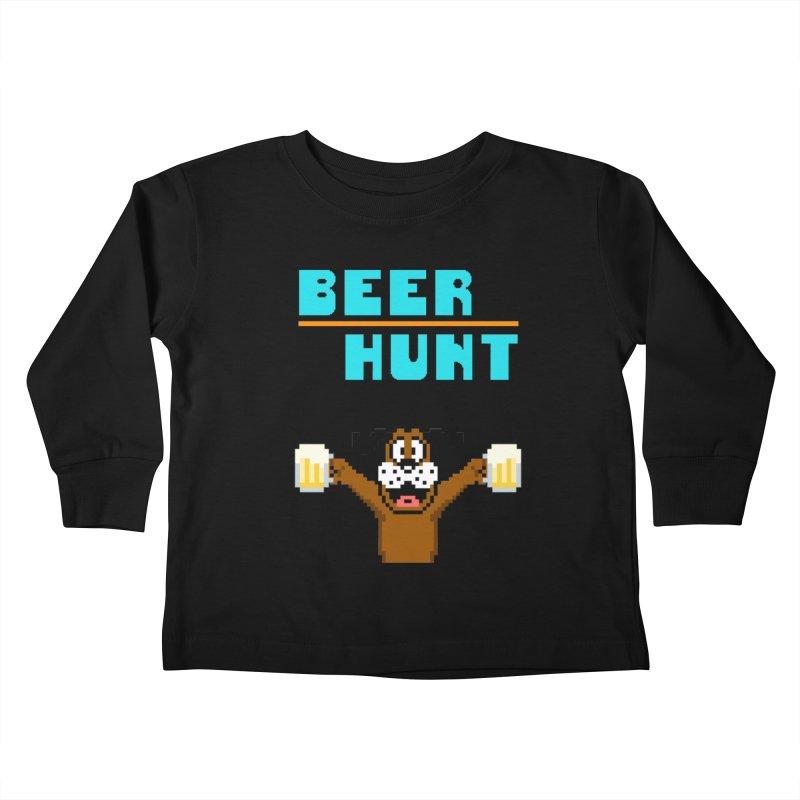 Beer Hunt Dog Kids Toddler Longsleeve T-Shirt by DrinkIN GeekOUT's Artist Shop