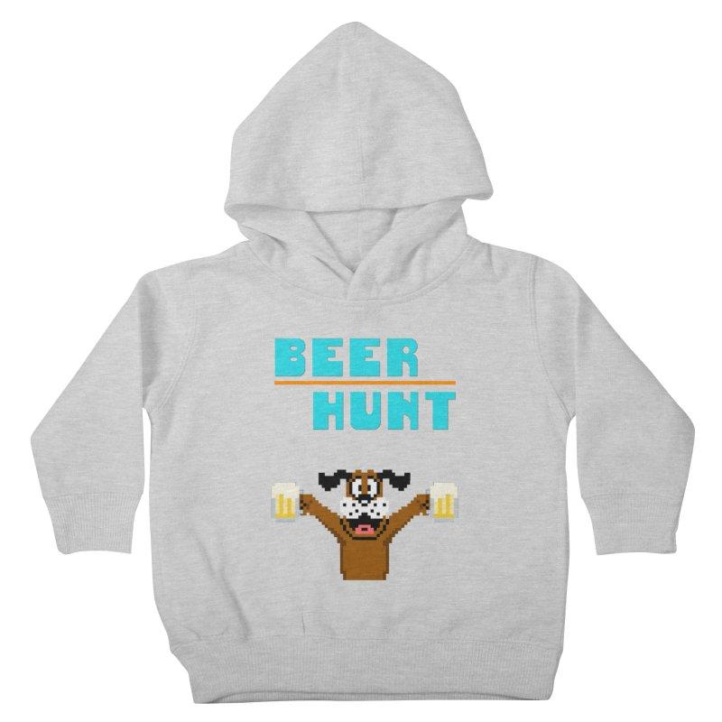 Beer Hunt Dog Kids Toddler Pullover Hoody by DrinkIN GeekOUT's Artist Shop