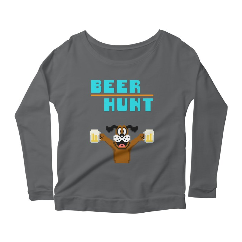 Beer Hunt Dog Women's Longsleeve T-Shirt by DrinkIN GeekOUT's Artist Shop