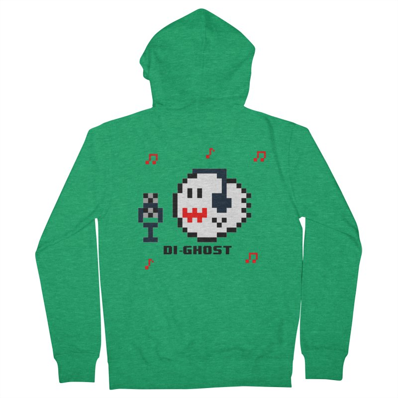 DiGhost Men's Zip-Up Hoody by DrinkIN GeekOUT's Artist Shop