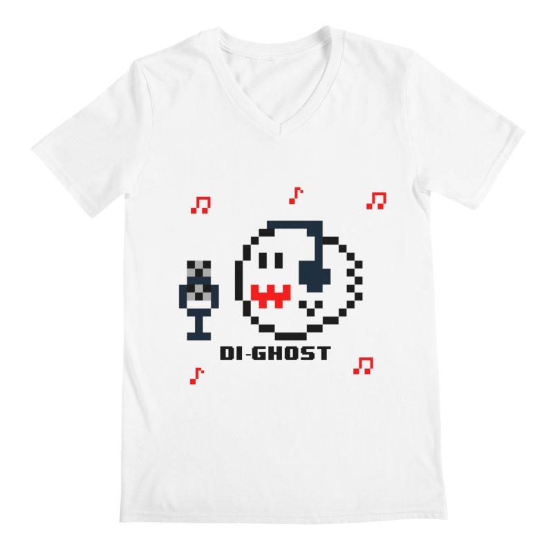 DiGhost Male Geeks V-Neck by DrinkIN GeekOUT's Artist Shop