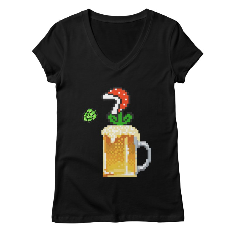 Beeranha Plant Women's V-Neck by DrinkIN GeekOUT's Artist Shop