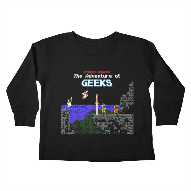 DiGo: The Adventure of Geeks Kids Toddler Longsleeve T-Shirt by DrinkIN GeekOUT's Artist Shop