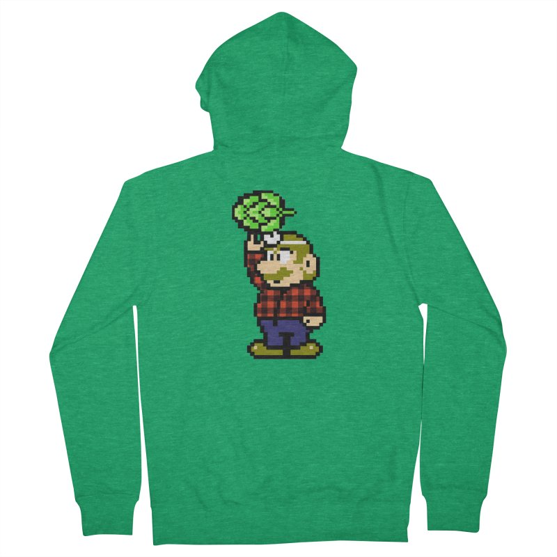 Brewer Mario Men's Zip-Up Hoody by DrinkIN GeekOUT's Artist Shop