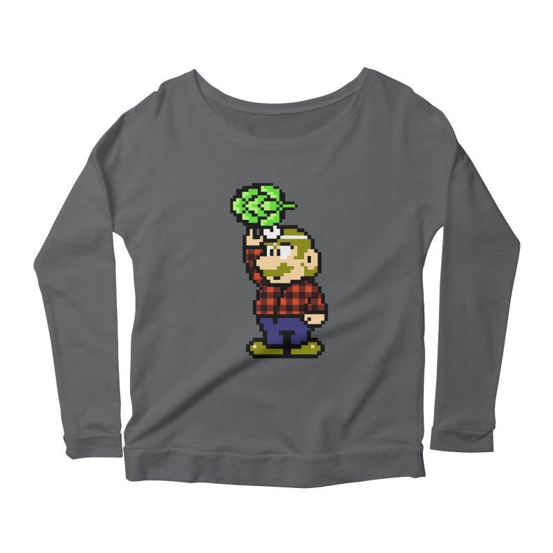 Brewer Mario Women's Longsleeve T-Shirt by DrinkIN GeekOUT's Artist Shop