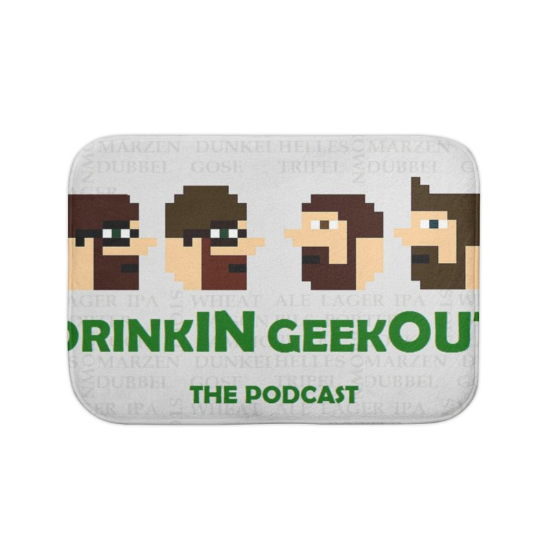 DrinkIN GeekOUT Home Bath Mat by DrinkIN GeekOUT's Artist Shop