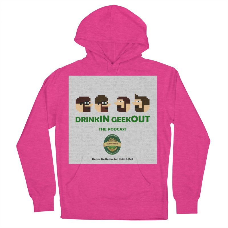 DrinkIN GeekOUT Men's French Terry Pullover Hoody by DrinkIN GeekOUT's Artist Shop