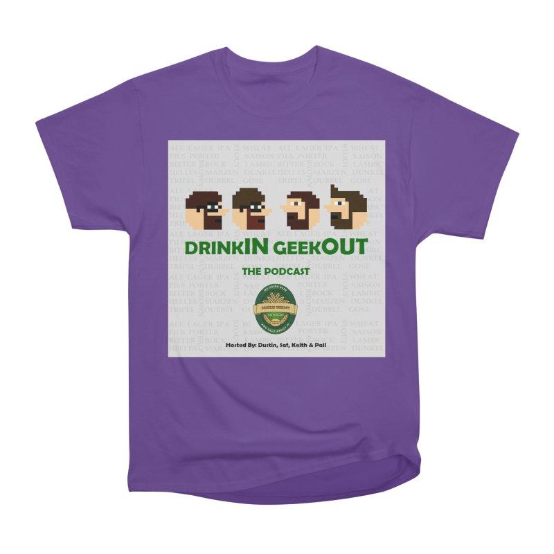 DrinkIN GeekOUT Men's Heavyweight T-Shirt by Drinkingeekout's Artist Shop