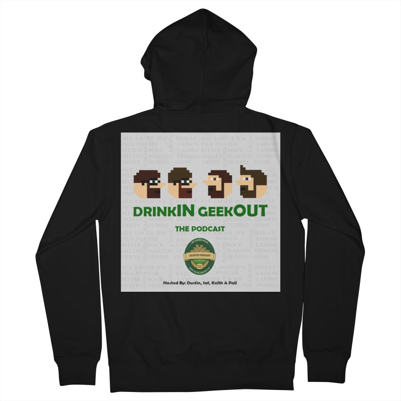 DrinkIN GeekOUT Men's Zip-Up Hoody by Drinkingeekout's Artist Shop