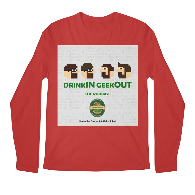 DrinkIN GeekOUT Men's Longsleeve T-Shirt by Drinkingeekout's Artist Shop