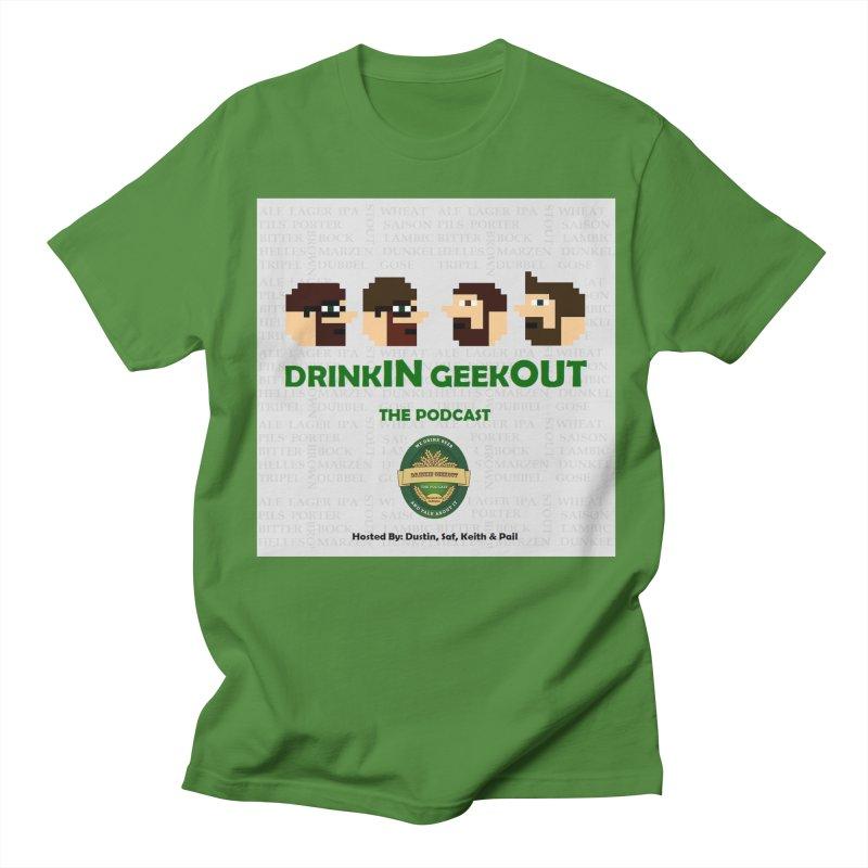 DrinkIN GeekOUT Men's T-Shirt by Drinkingeekout's Artist Shop