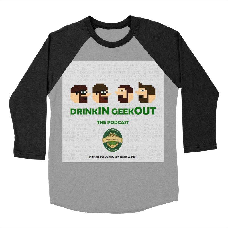 DrinkIN GeekOUT Women's Baseball Triblend Longsleeve T-Shirt by DrinkIN GeekOUT's Artist Shop