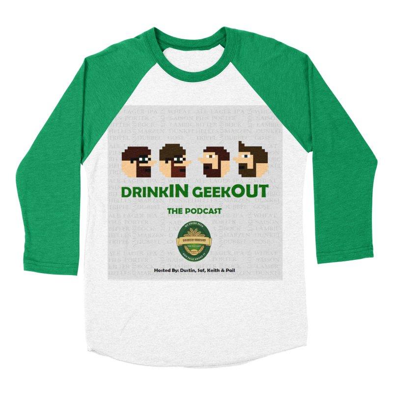 DrinkIN GeekOUT Men's Baseball Triblend Longsleeve T-Shirt by DrinkIN GeekOUT's Artist Shop