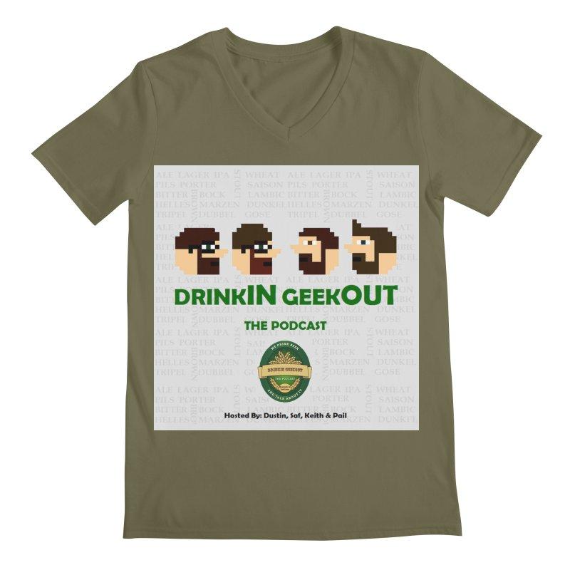 DrinkIN GeekOUT Men's V-Neck by Drinkingeekout's Artist Shop