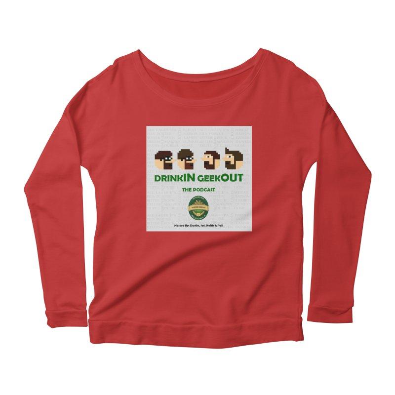 DrinkIN GeekOUT Women's Scoop Neck Longsleeve T-Shirt by DrinkIN GeekOUT's Artist Shop