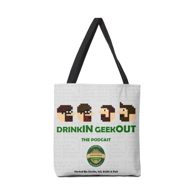 DrinkIN GeekOUT Accessories Bag by Drinkingeekout's Artist Shop