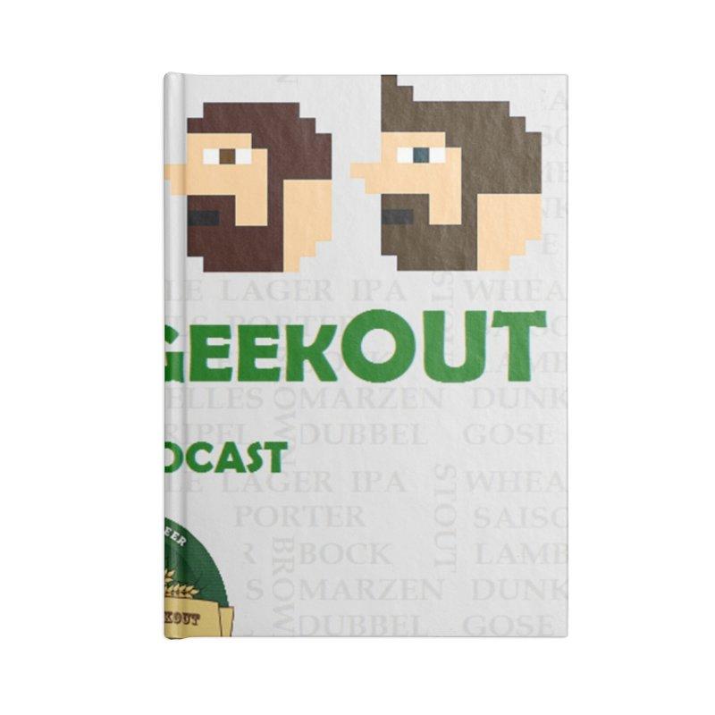 DrinkIN GeekOUT Accessories Lined Journal Notebook by DrinkIN GeekOUT's Artist Shop
