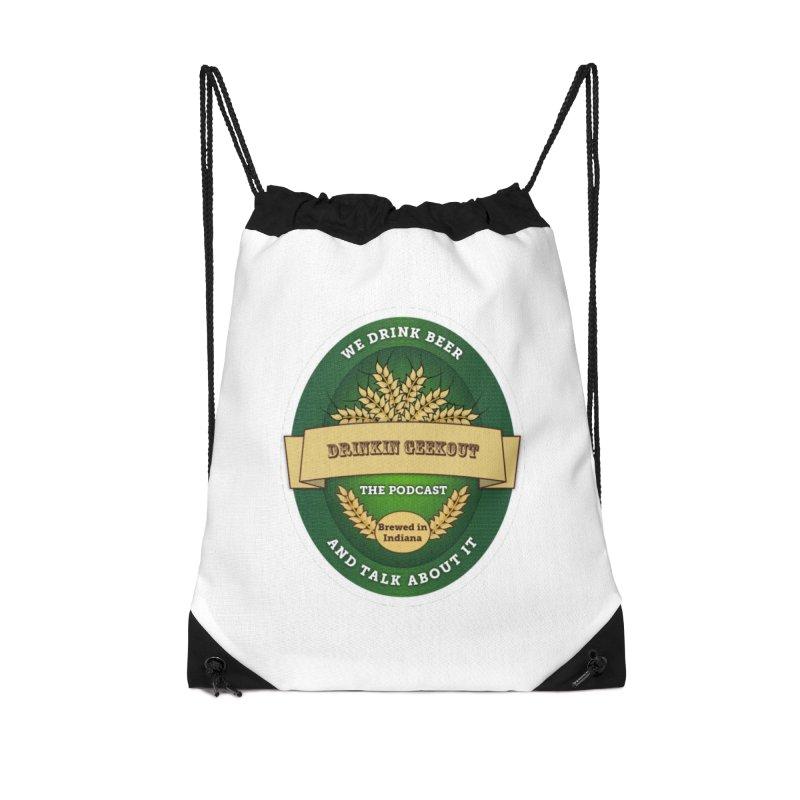 DrinkIN GeekOUT Classic Accessories Drawstring Bag Bag by DrinkIN GeekOUT's Artist Shop