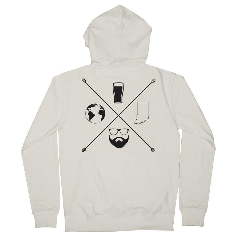 DiGo Hopster design Men's French Terry Zip-Up Hoody by DrinkIN GeekOUT's Artist Shop