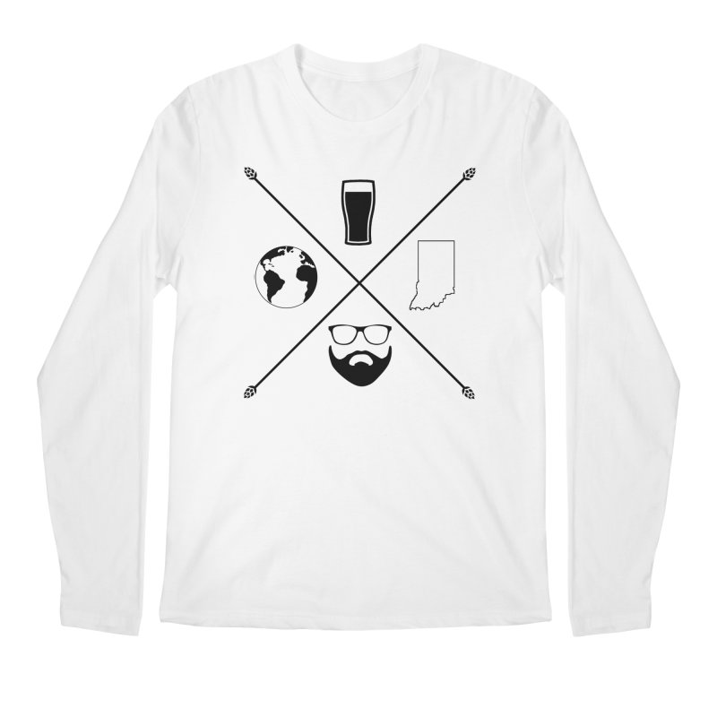 DiGo Hopster design Men's Regular Longsleeve T-Shirt by DrinkIN GeekOUT's Artist Shop
