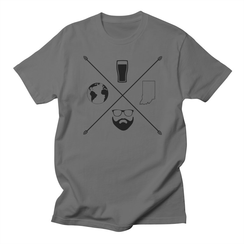 DiGo Hopster design Men's T-Shirt by DrinkIN GeekOUT's Artist Shop