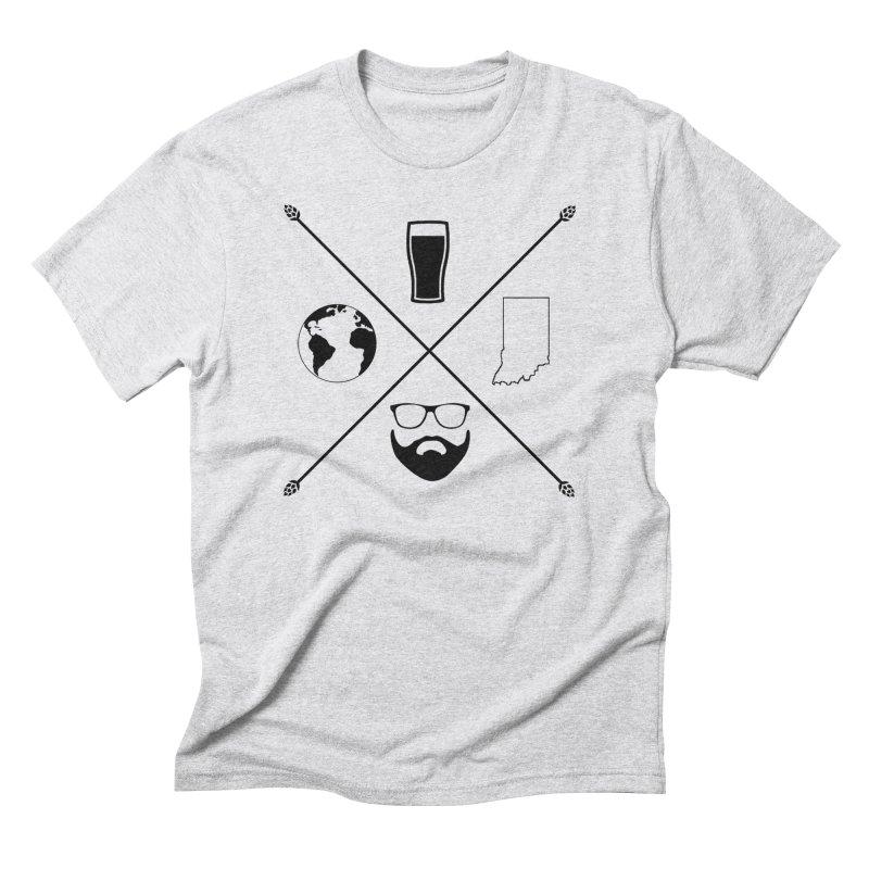 DiGo Hopster design Men's Triblend T-Shirt by DrinkIN GeekOUT's Artist Shop