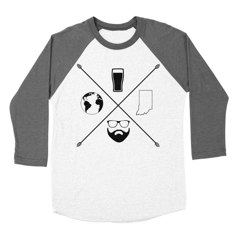 DiGo Hopster design Men's Baseball Triblend Longsleeve T-Shirt by DrinkIN GeekOUT's Artist Shop