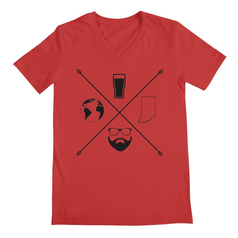 DiGo Hopster design Men's Regular V-Neck by DrinkIN GeekOUT's Artist Shop