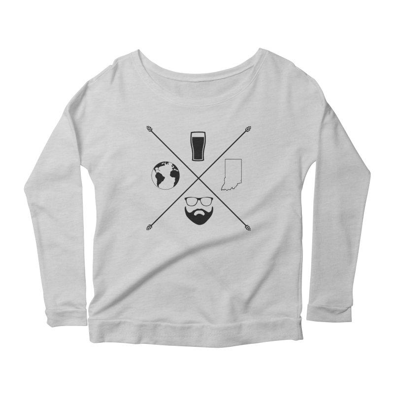 DiGo Hopster design Women's Scoop Neck Longsleeve T-Shirt by DrinkIN GeekOUT's Artist Shop