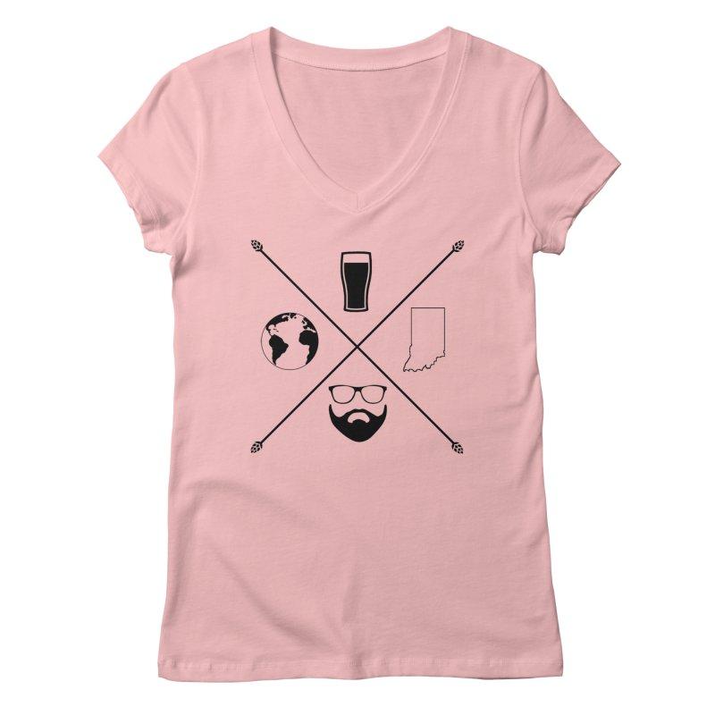 DiGo Hopster design Women's Regular V-Neck by DrinkIN GeekOUT's Artist Shop