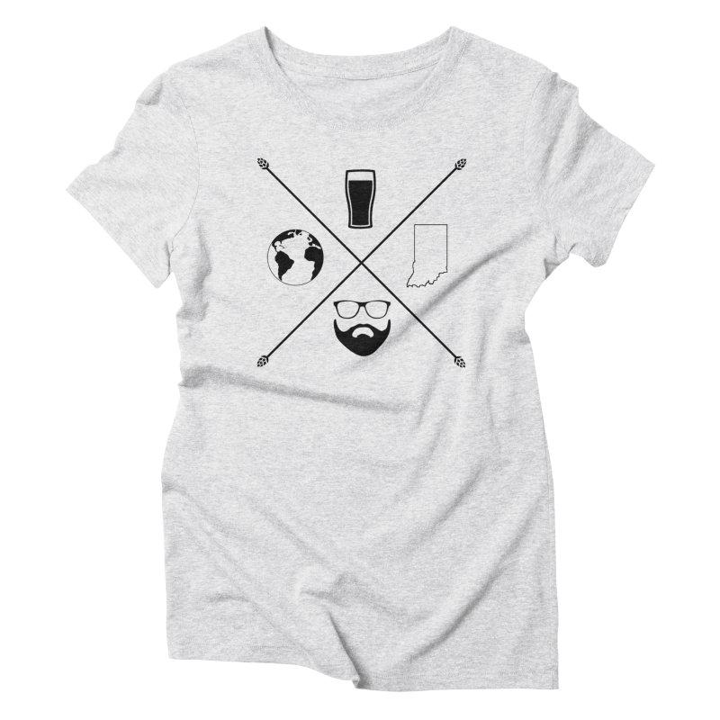 DiGo Hopster design Women's Triblend T-Shirt by DrinkIN GeekOUT's Artist Shop