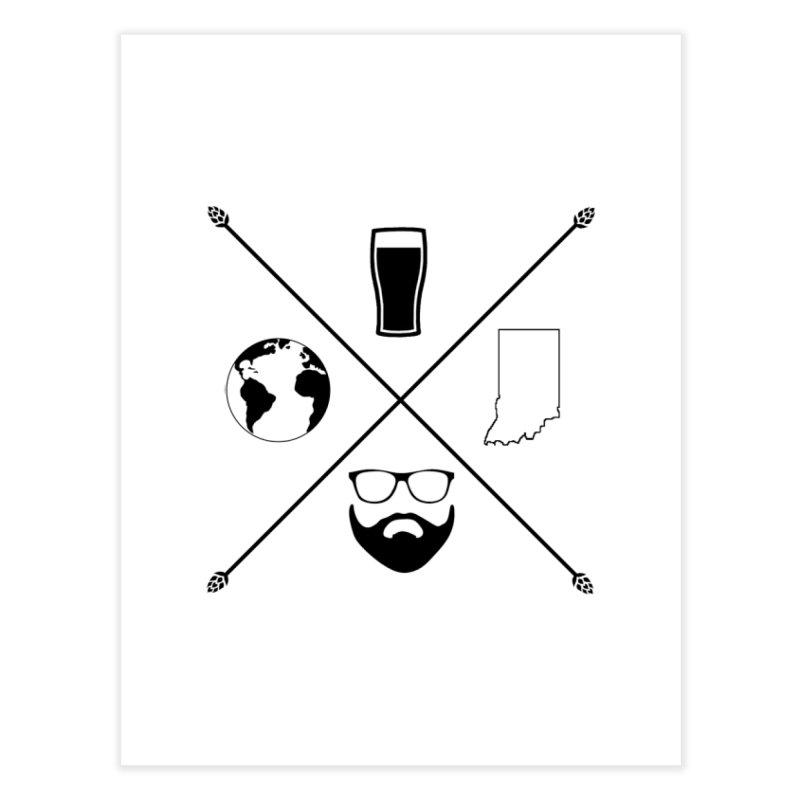 DiGo Hopster design Home Fine Art Print by DrinkIN GeekOUT's Artist Shop
