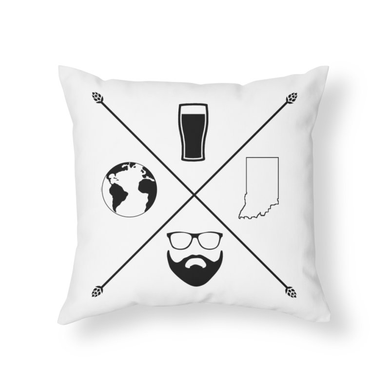 DiGo Hopster design Home Throw Pillow by DrinkIN GeekOUT's Artist Shop
