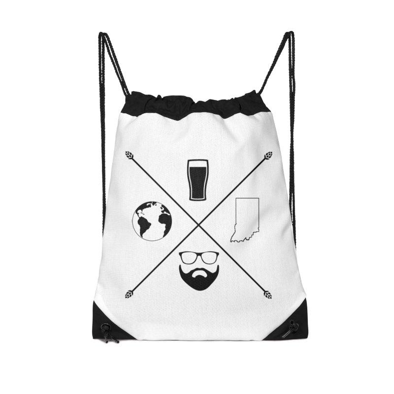 DiGo Hopster design Accessories Drawstring Bag Bag by DrinkIN GeekOUT's Artist Shop