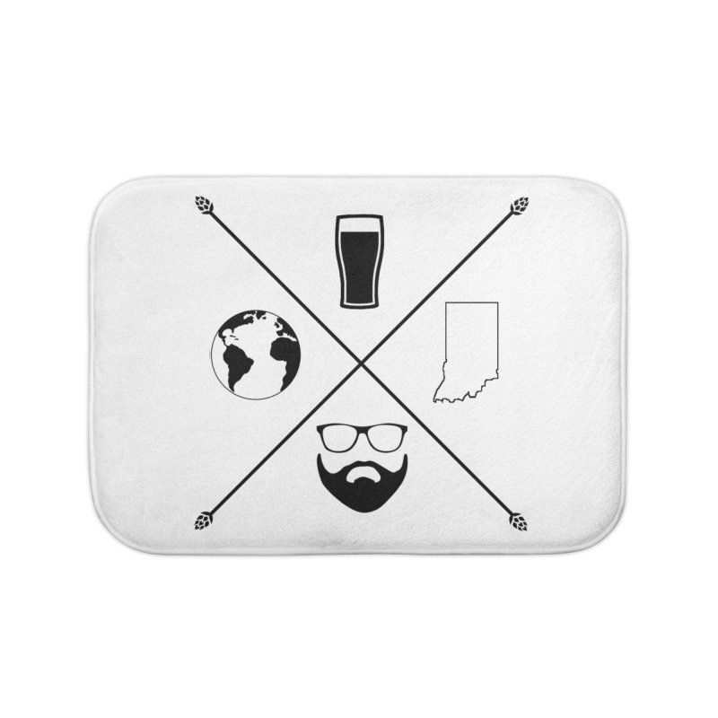 DiGo Hopster design Home Bath Mat by DrinkIN GeekOUT's Artist Shop