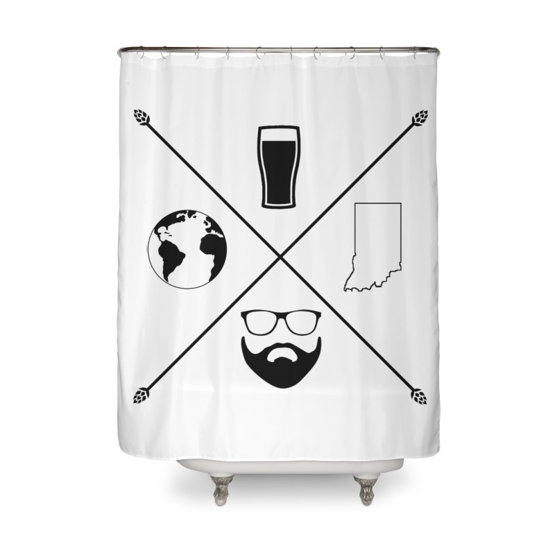 DiGo Hopster design Home Shower Curtain by DrinkIN GeekOUT's Artist Shop