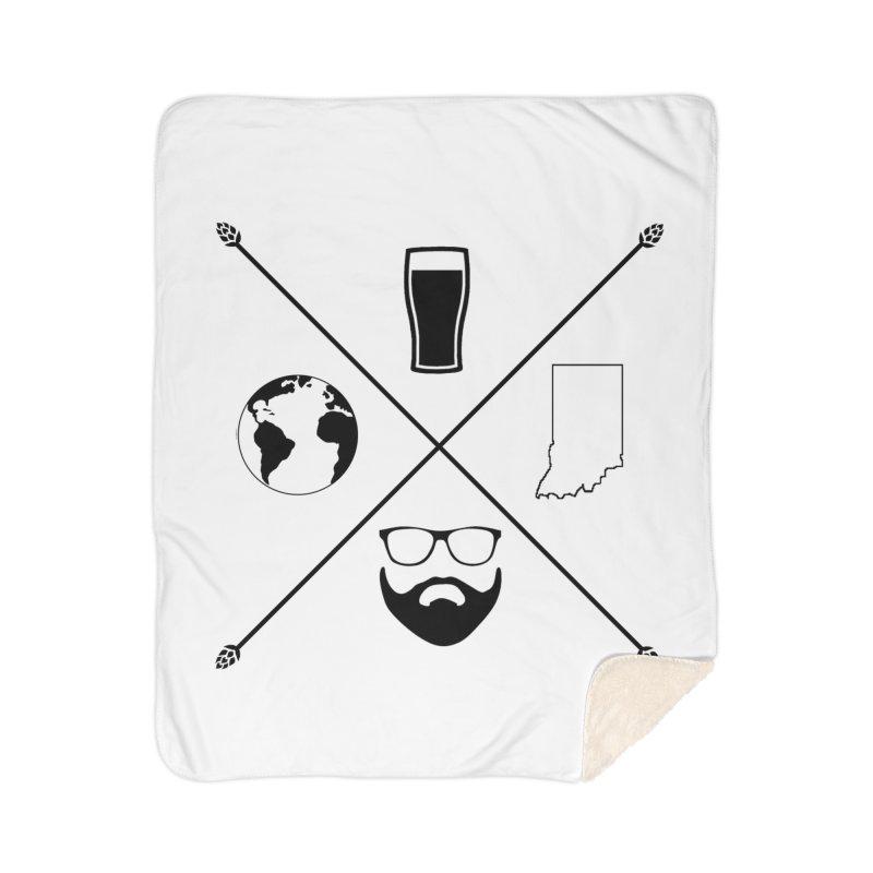 DiGo Hopster design Home Sherpa Blanket Blanket by DrinkIN GeekOUT's Artist Shop