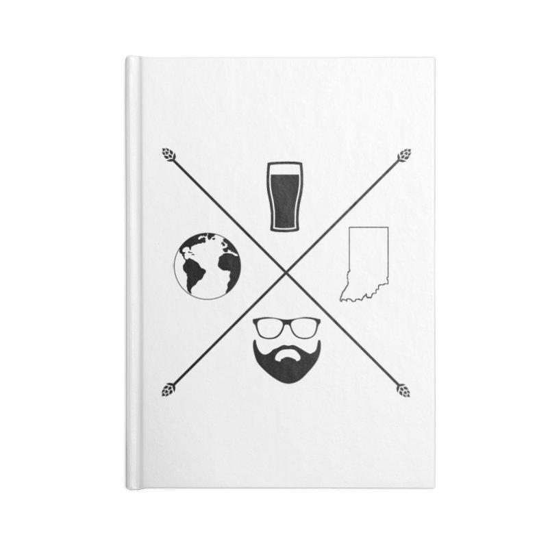 DiGo Hopster design Accessories Lined Journal Notebook by DrinkIN GeekOUT's Artist Shop