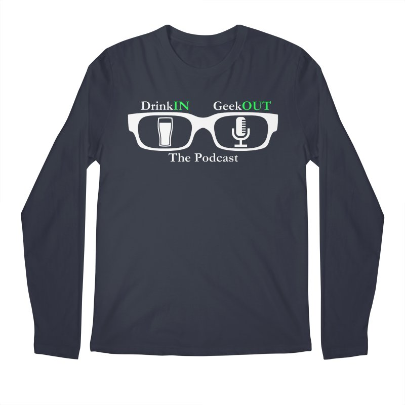 White Beer Goggles Men's Regular Longsleeve T-Shirt by DrinkIN GeekOUT's Artist Shop