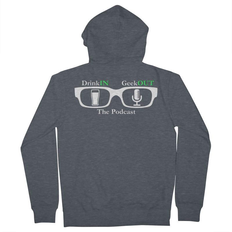 White Beer Goggles Men's French Terry Zip-Up Hoody by DrinkIN GeekOUT's Artist Shop