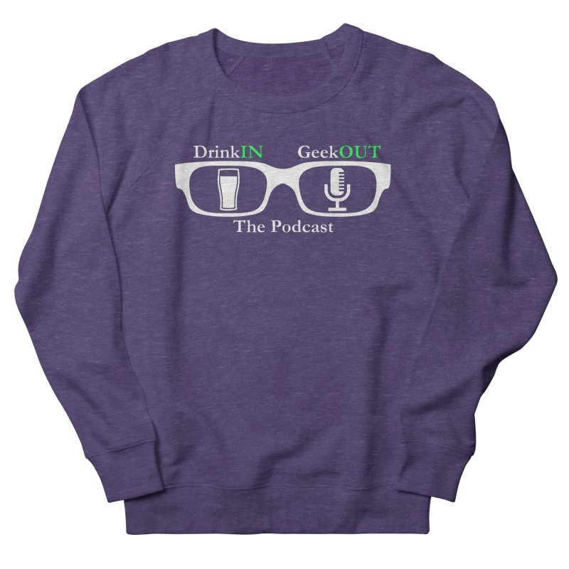White Beer Goggles Women's French Terry Sweatshirt by DrinkIN GeekOUT's Artist Shop