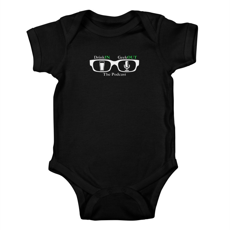 White Beer Goggles Kids Baby Bodysuit by DrinkIN GeekOUT's Artist Shop