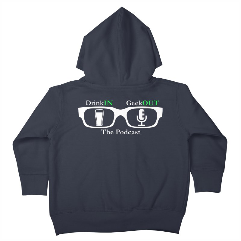 White Beer Goggles Kids Toddler Zip-Up Hoody by DrinkIN GeekOUT's Artist Shop