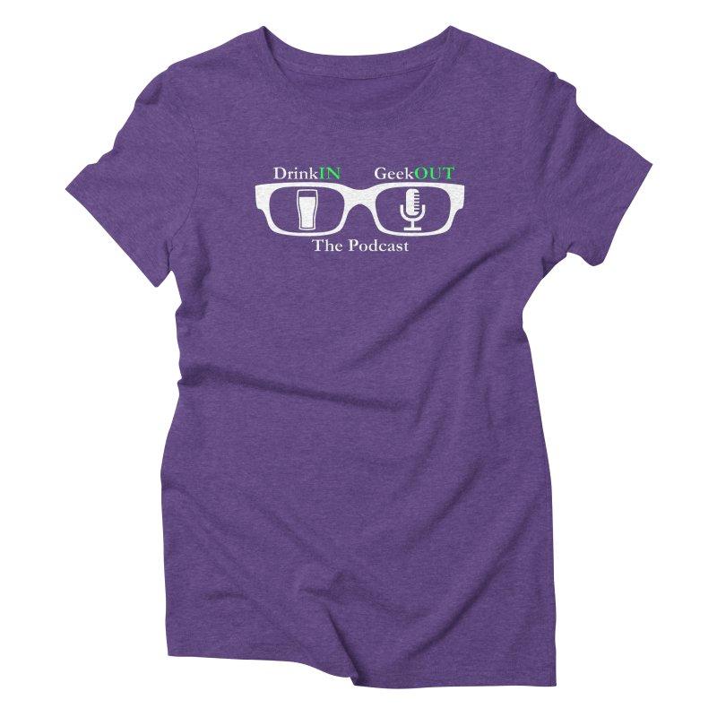 White Beer Goggles Women's Triblend T-Shirt by DrinkIN GeekOUT's Artist Shop